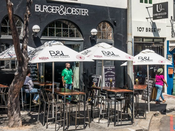 Burger & Lobster Restaurant in Bree Street in Cape Town