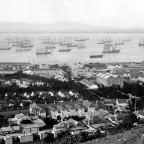 Busy day in Table Bay circa 1900
