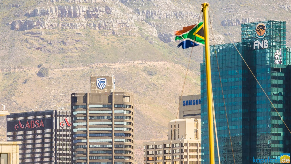 Banks in the business district in Cape Town (from the Waterfront)