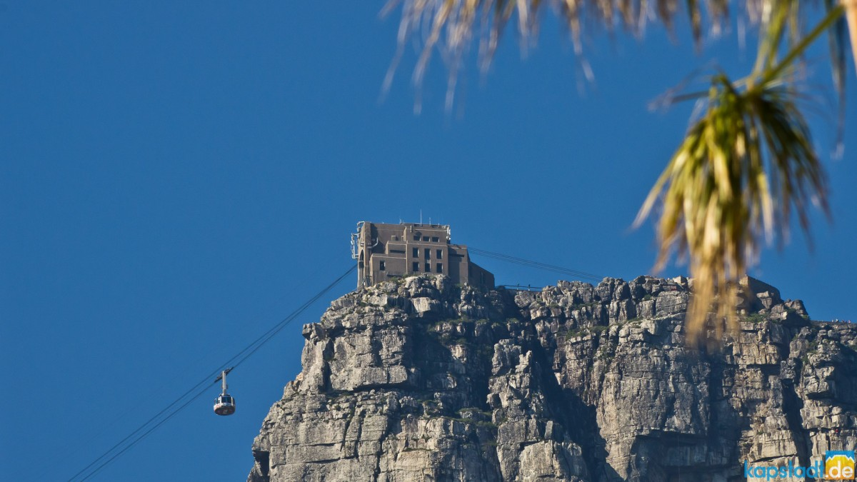 Upper cable car station on Table Mountain from Camps Bay