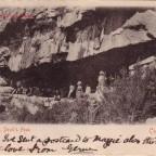 Postkarte Caves Devils Peak 1904