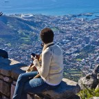 On top of Table Mountain in Cape Town