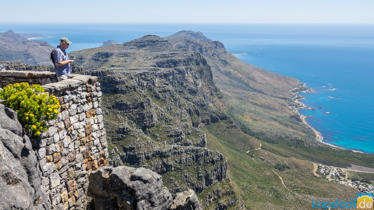 On top of Table Mountain: coastal road
