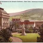 Postkarte Parliament und St Georg um 1905