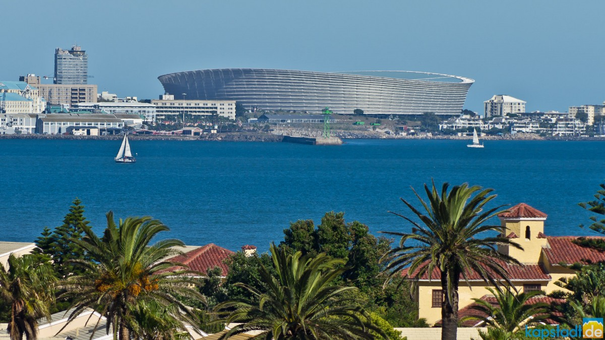 Soccer stadium and Woodbridge Island