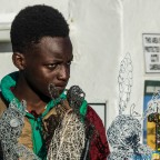 Black boy selling crafts at Ons Huisie