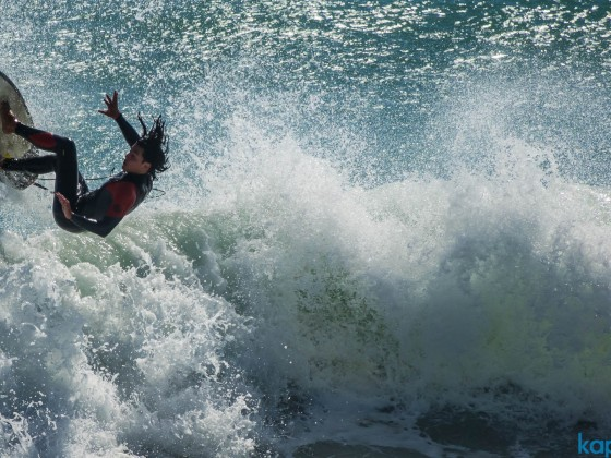 Wavesurfer at Bloubergstrand