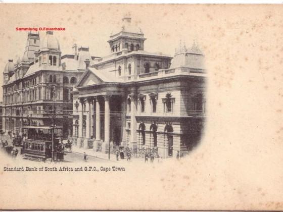 Postkarte Standard Bank 1900