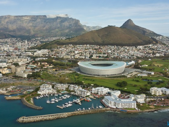 Helicopter flight: Full Cape Town view...