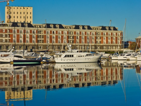 Images from the V&A Waterfront - water reflections