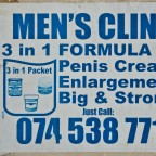 Informal advertising along Koeberg Road
