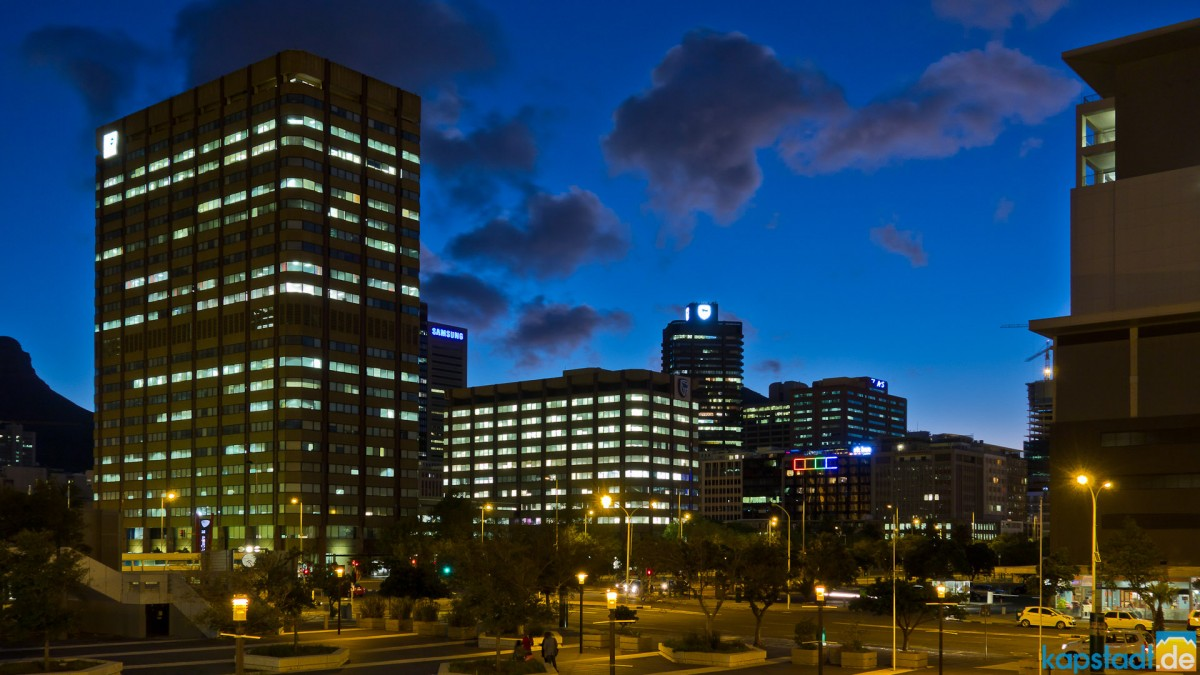 Business District from the Artscape in the evening