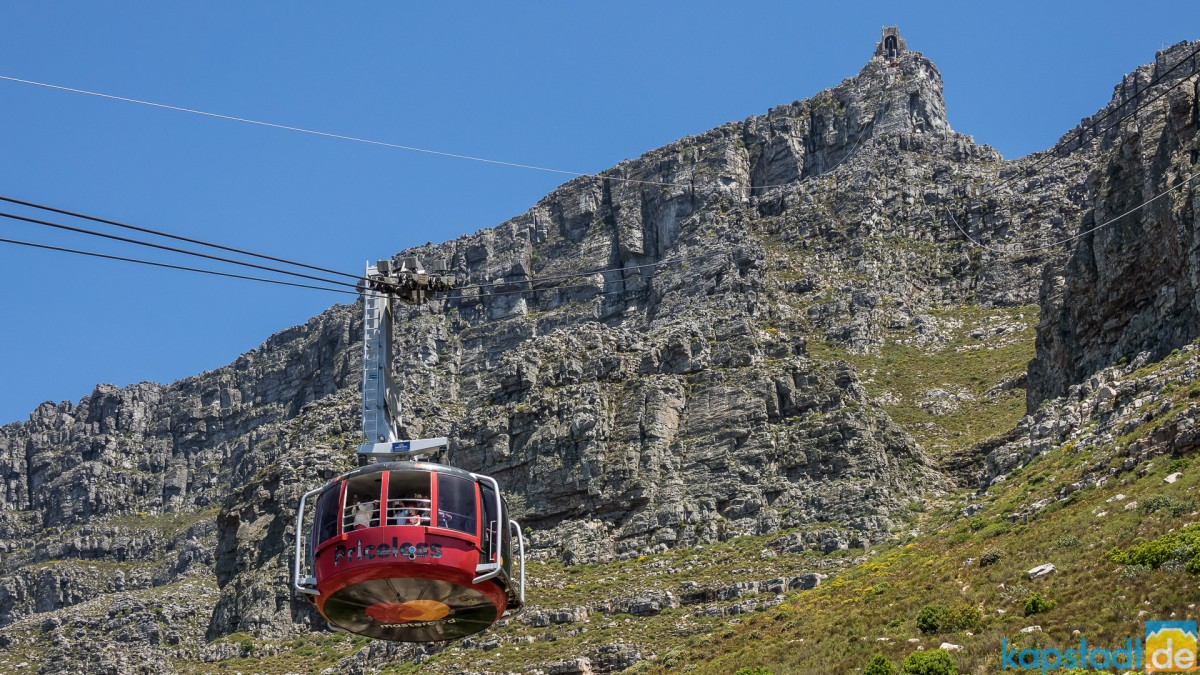 Table Mountain and the cable car