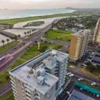 Aerial image of flat building in Milnerton with Woodbridge Island
