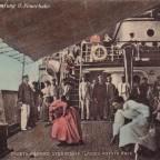 Postkarte Mit dem Dampfschiff nach Kapstadt 1909