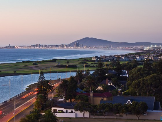 Bloubergstrand and Table View from Milnerton