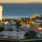 Woodbridge Island and Robben Island after sunrise