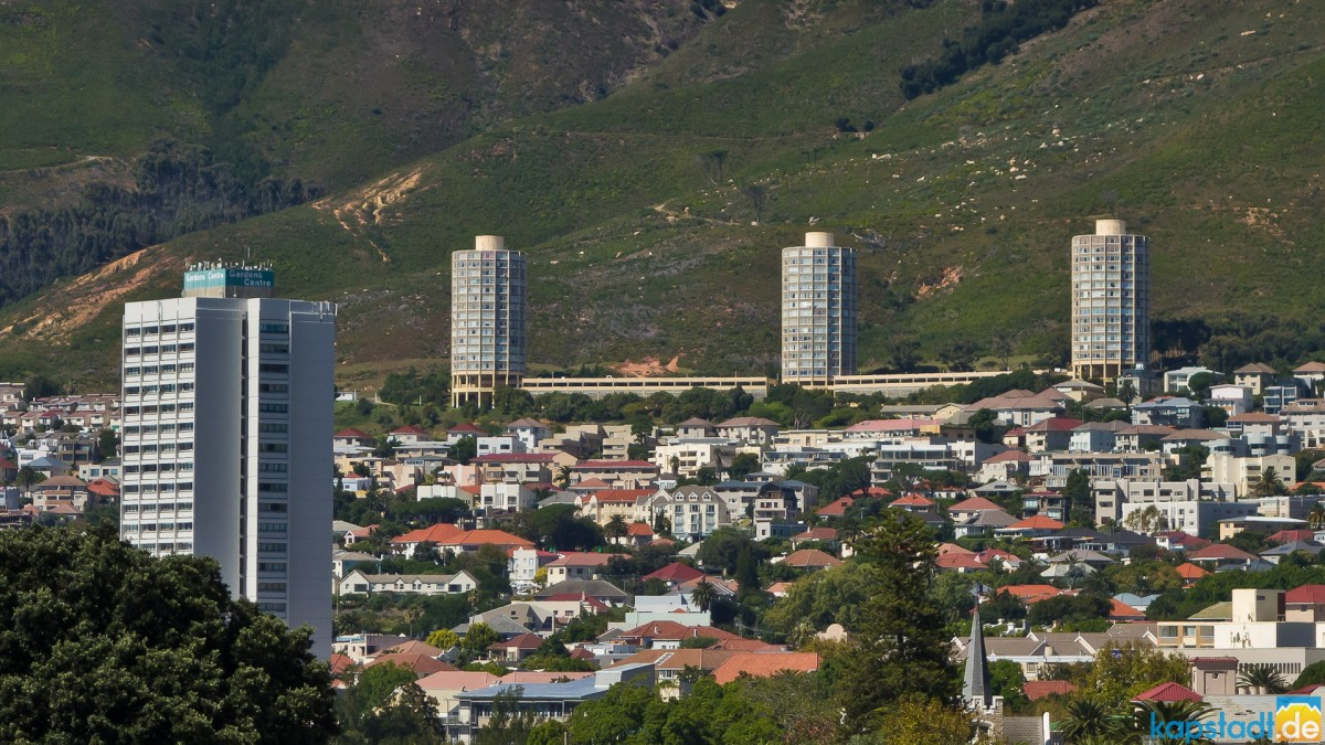 "The ""Salt & Pepper"" Towers in Vredehoek and the Garden Centre"