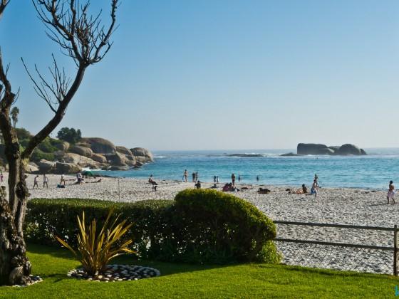 At the Clifton beaches...
