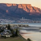 Milnerton Lagoon and Woodbridge Island after sunrise