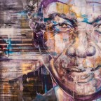 Nelson Mandela graffiti in the City Bowl of Cape Town