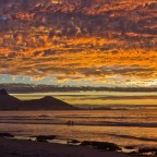 Milnerton Lagoon and beach after sunset