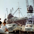 A berth, Duncan Dock, 1958