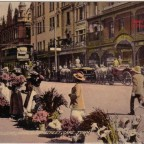 Postkarte Flower Sellers Adderley Street um 1900