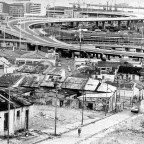 View from District six to the harbour c1979