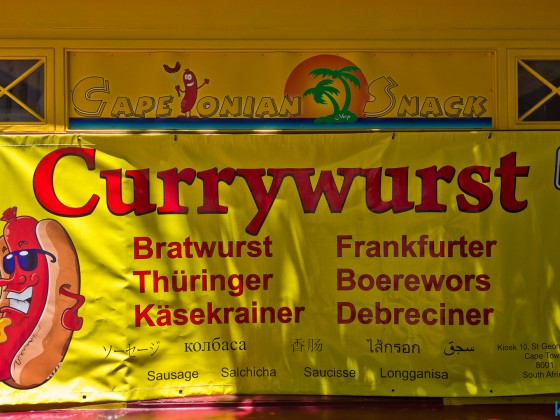 """Deutsche Wurst"" products in Cape Towns CBD"