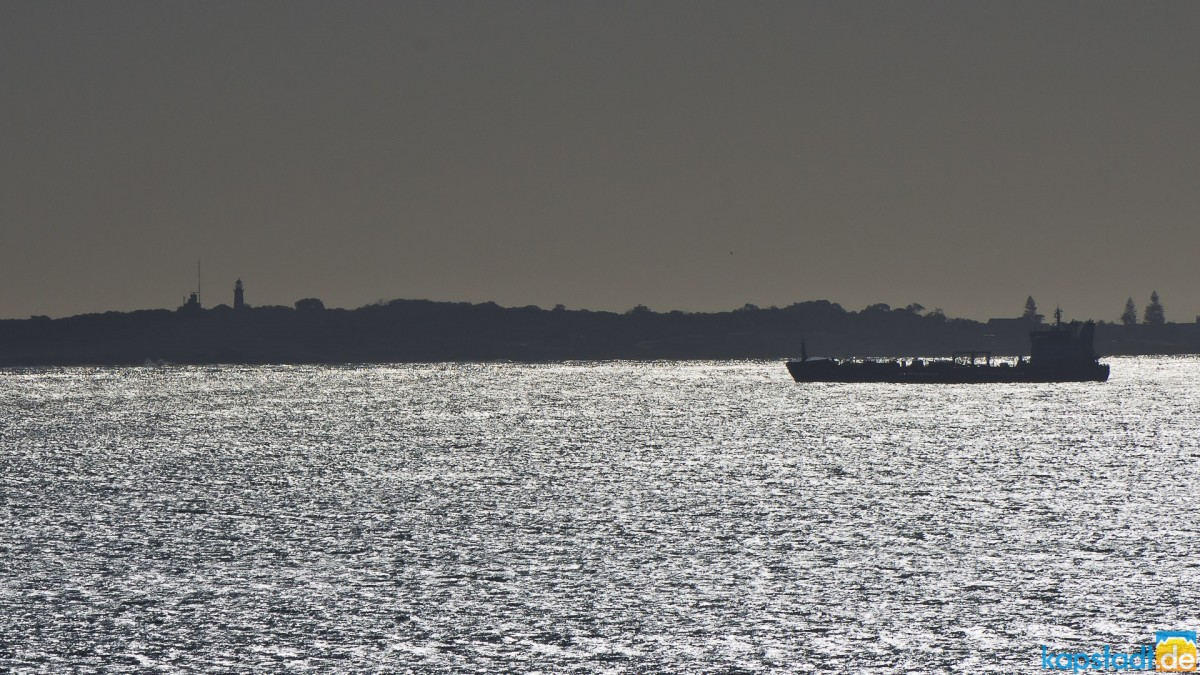 Silhouette of Robben Island