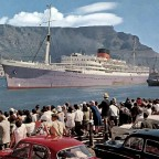 Athlone Castle departing Cape Town 1962