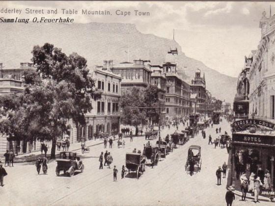Postkarte Adderley Street um 1900 - 2