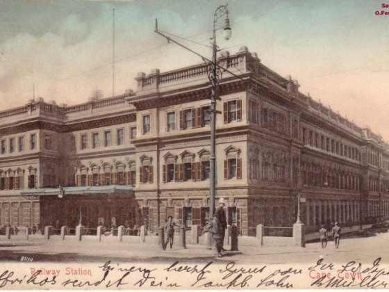 Postkarte Bahnhof Kapstadt 1903 - 2