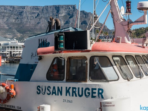"""Susan Kruger"" - old supplyship to Robben Island"