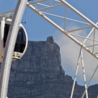 Big Wheel with the upper cable car station of Table Mountain