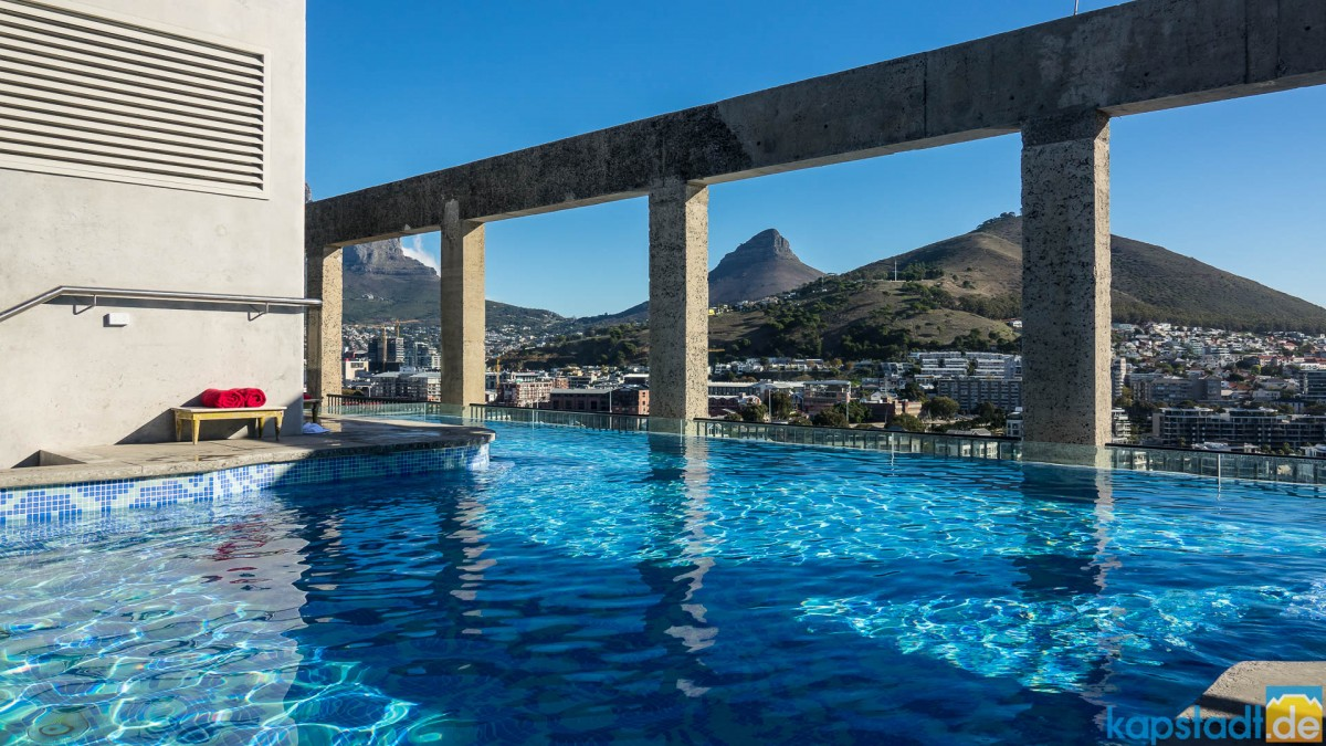 "Pool the top floor of the ""Silo Hotel"" at the V&A Waterfront"