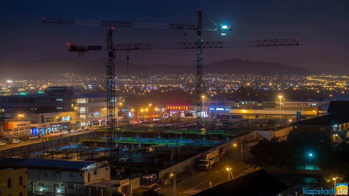 Center Point Mall in Milnerton construction at night