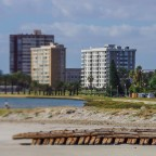 Milnerton Central with old shipwreck at the Lagoon (with effect)