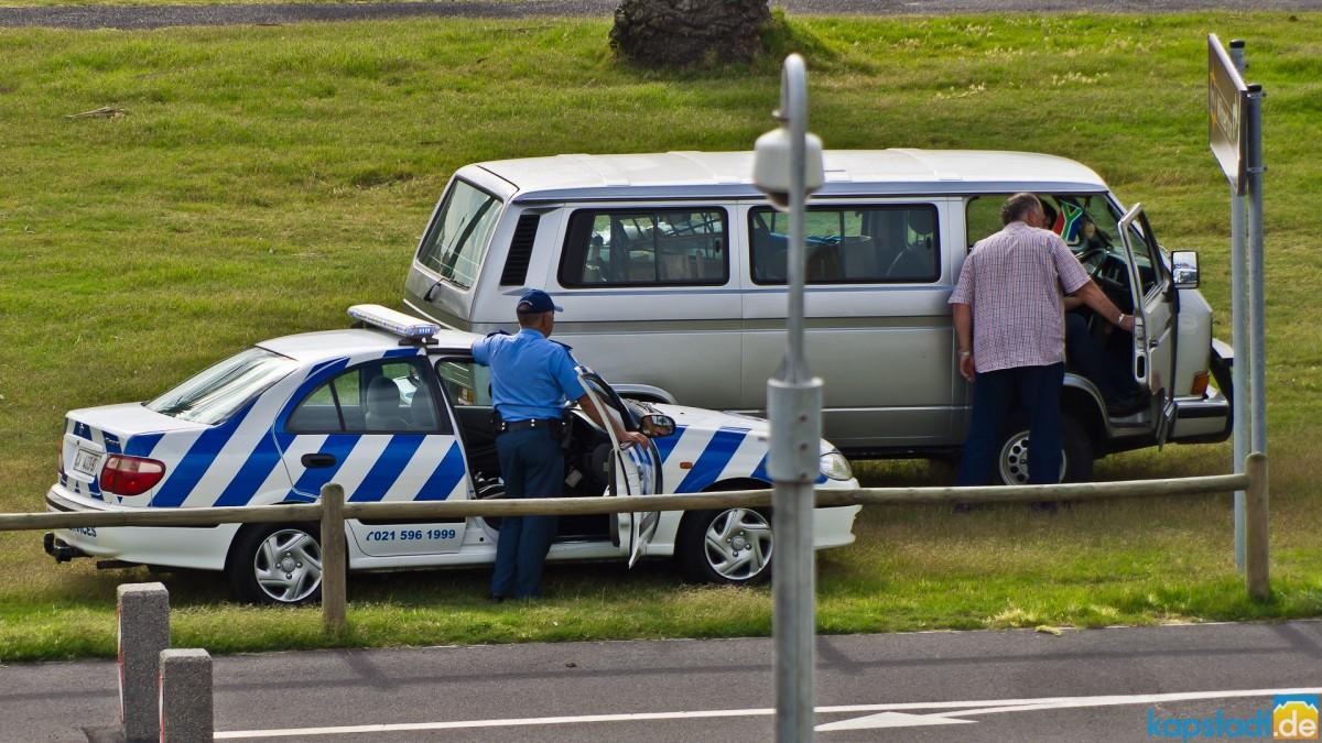 Traffic police checking...