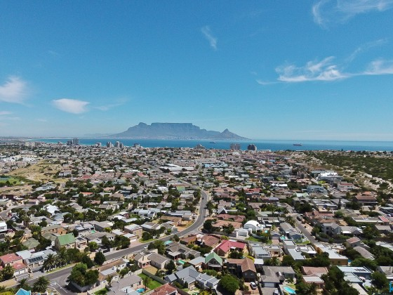 Aerial images from Table View towards Table Mountain