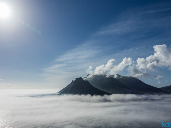 The Sentinal and the mountains around Hout Bay in the mist