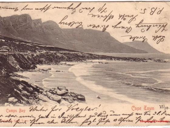 Postkarte Camps Bay 1903