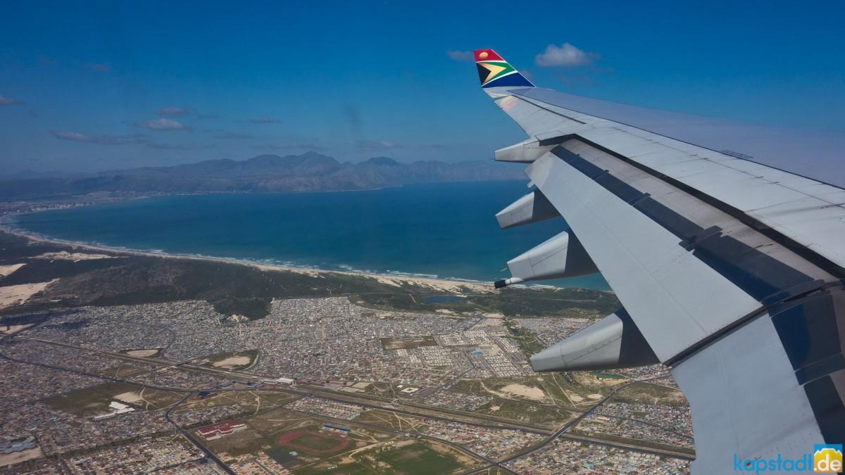 SAA flight with views onto the False Bay