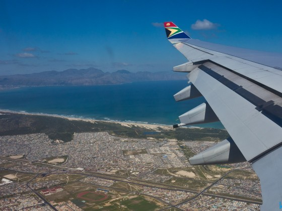 SAA flight with views onto the False Bay