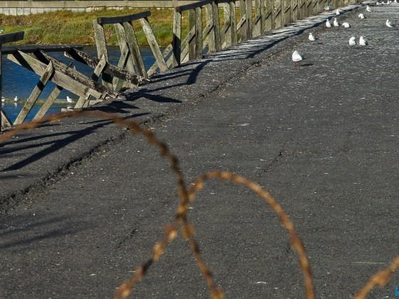 Old Woodbridge Island bridge slowly falling appart