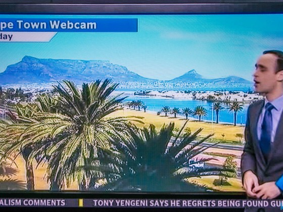 Cape Town Webcam on eNCA Television News