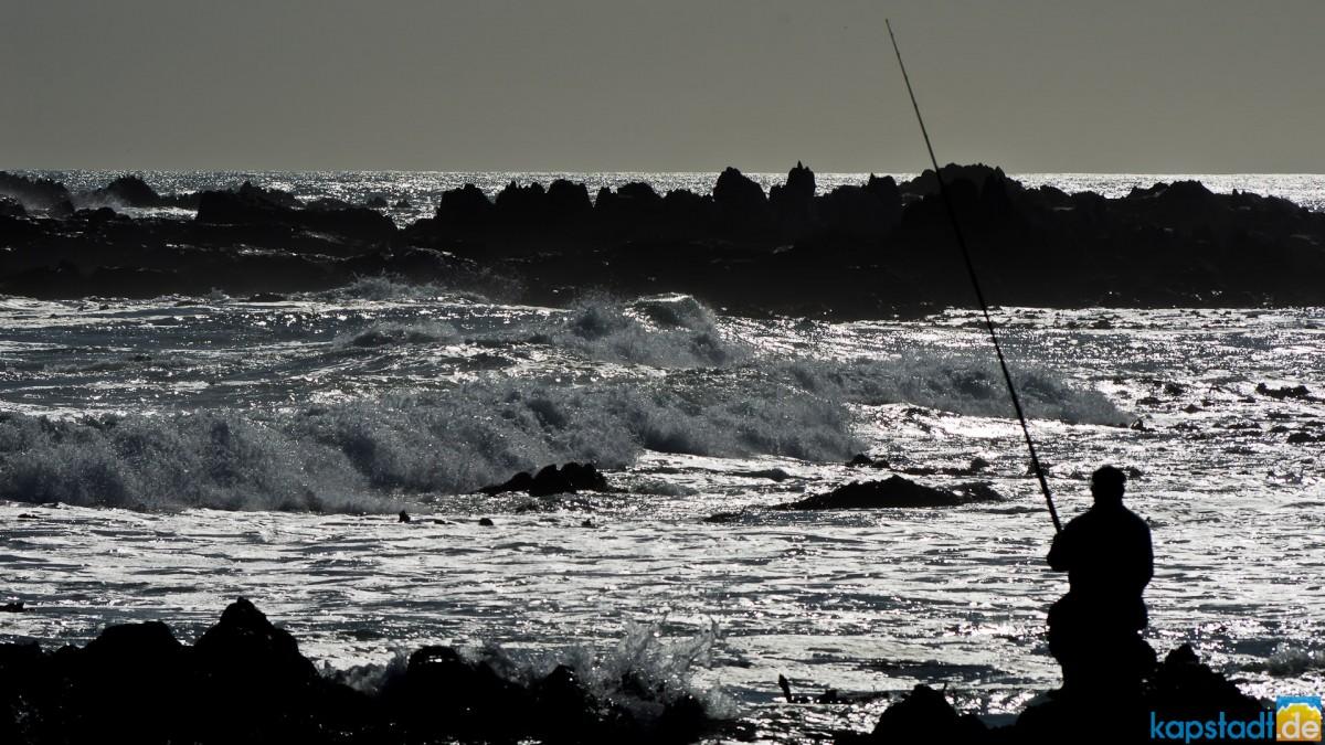 Fishing at Bloubergstrand