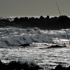 Fishing at Bloubergstrand