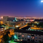Milnerton at night with old Centre Point (gone)